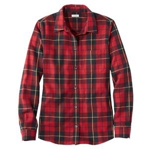 Red and black plaid flannel shirt from L.L. Bean photo