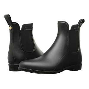 Black Chelsea rain boots from Zappos photo
