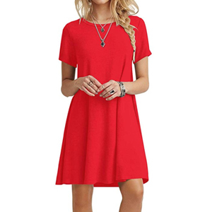 Red t-shirt dress from Amazon photo