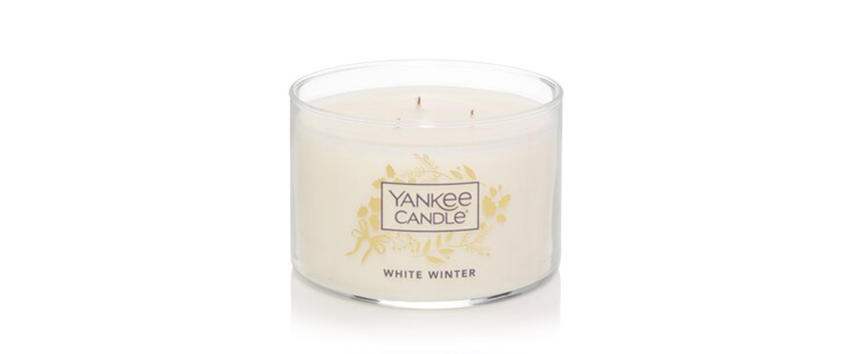 White Winter 3-wick Yankee Candle from Kohls photo