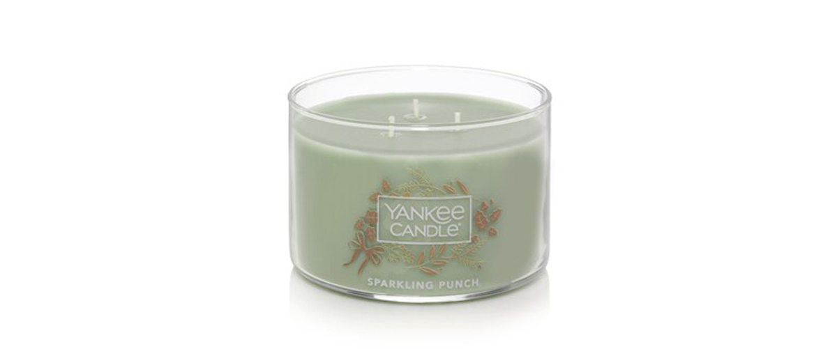 Holiday Sparkling Punch 3-wick Yankee Candle from Kohls photo