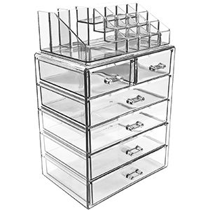 Clear acrylic makeup organizer from Walmart photo