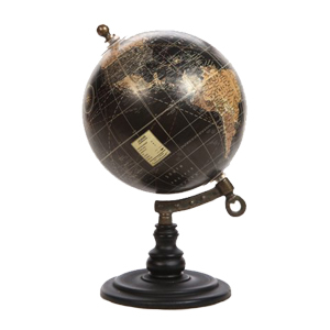 Better Homes and Gardens black and neutral-tone globe from Walmart photo