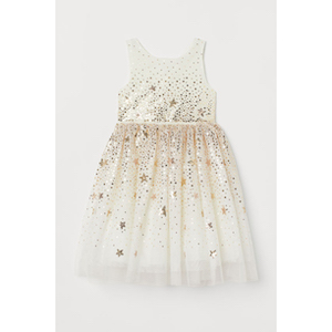 H&M Sequined Tulle Dress photo