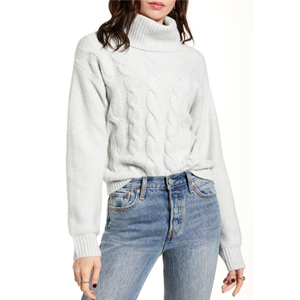 Gray BP Cable Stitch Turtleneck Sweater from Nordstrom photo