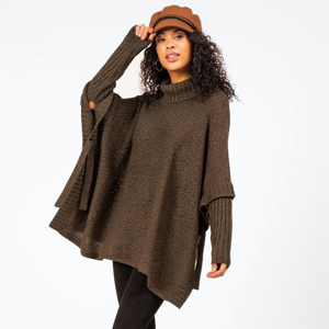 Naomi Side Tie Poncho from Francesca's photo