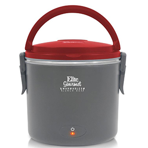 Red and gray heated lunch box from Macy's photo