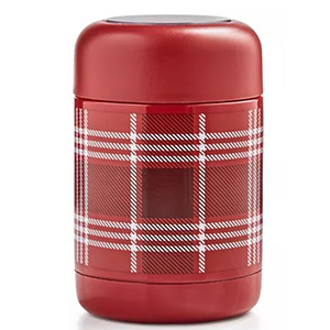 Red and white plaid thermos from Macy's photo