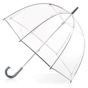 See-through umbrella with silver lining from Amazon photo