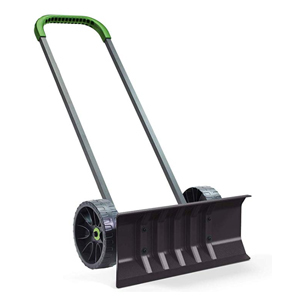 Rolling snow shovel push plow from Amazon photo