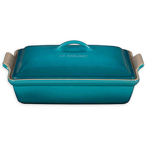 Teal Le Creuset casserole dish from Bed Bath & Beyond photo