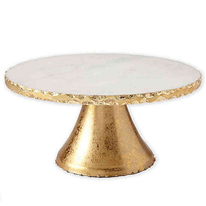 Gold and white cake stand from Bed Bath & Beyond photo