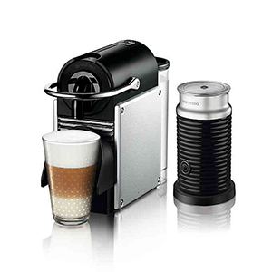 Black and silver Nespresso espresso maker from Bed Bath & Beyond photo