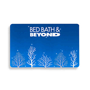 Blue Bed Bath & Beyond gift card photo