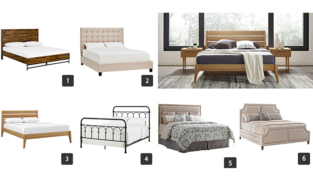 Collage of various beds from Houzz photo