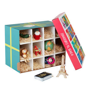 Gift box with 12 ornaments photo