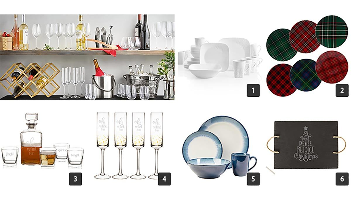 Collage of various tableware items from The Home Depot photo
