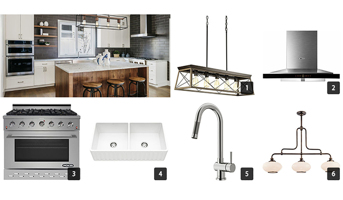 Collage of various kitchen appliances from Houzz photo