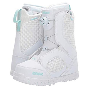 White and mint snowboard boots photo