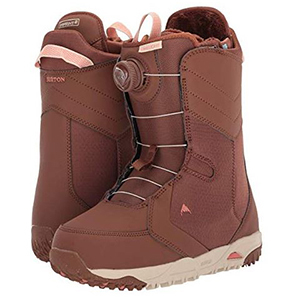 Brown and tan snowboard boots photo