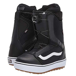 Black and white snowboard boots photo