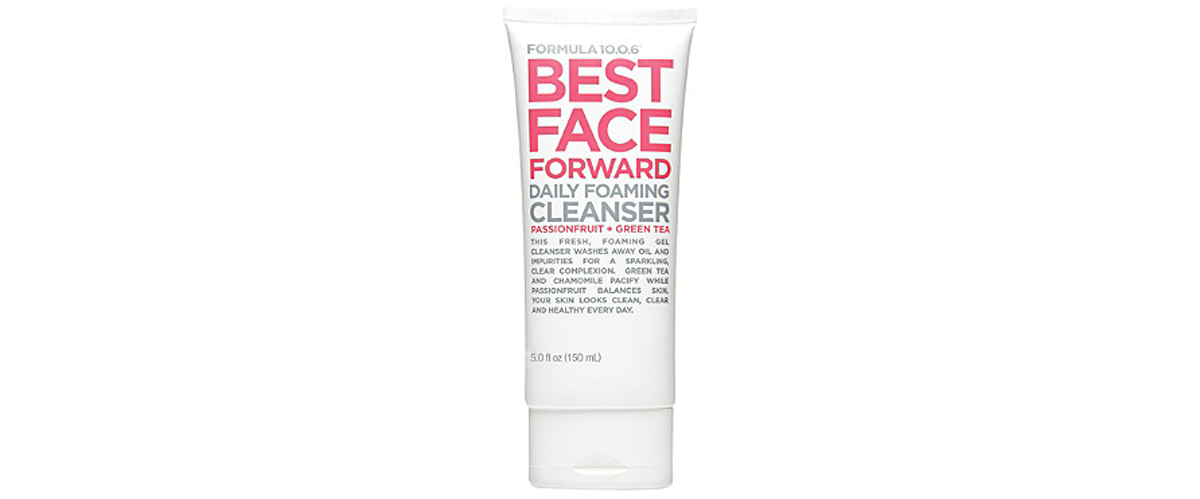 Formula 10.06 Best Face Forward Daily Foaming Cleanser in pink and white packaging from Ulta photo