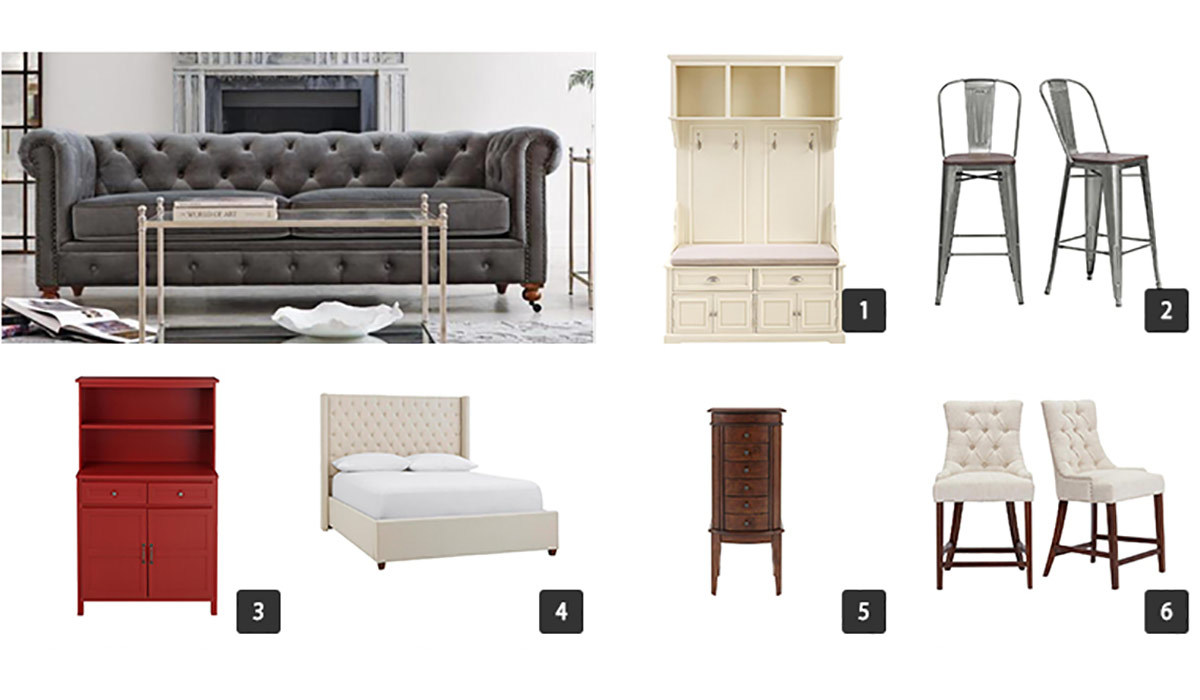 Collage of various furniture items from The Home Depot photo