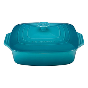 Blue square Le Creuset casserole dish from Nordstrom photo