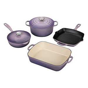 Purple 6-piece Le Creuset cookware set from Nordstrom photo