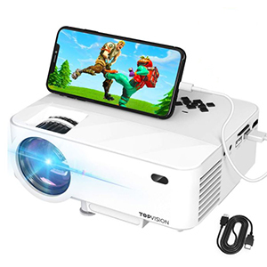 Small white projector from Amazon photo