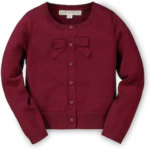 Hope & Henry Girls' Cardigan with Bow Detail photo
