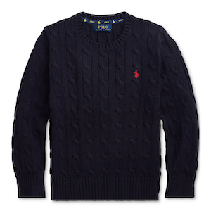 Polo Ralph Lauren Toddler Boys Cable-Knit Cotton Sweater photo