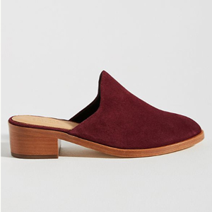 Dark red mules from Anthropologie photo