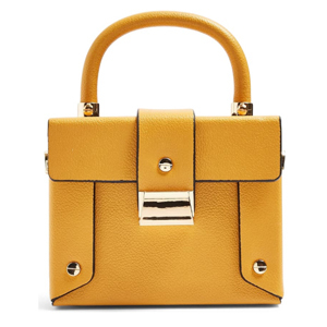 Yellow faux leather handbag from Nordstrom photo