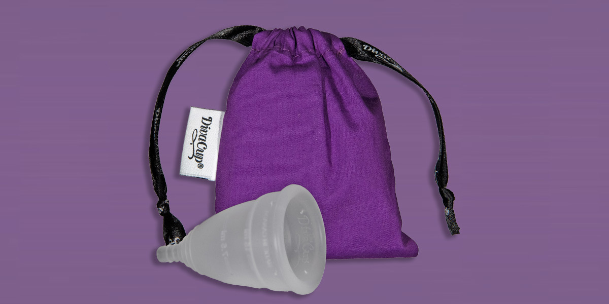 Diva cup with travel bag photo