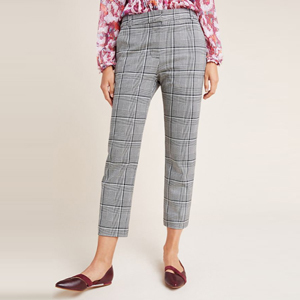 Gray plaid trousers from Anthropologie photo