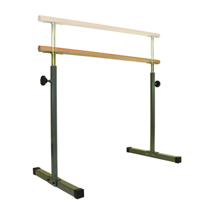 Freestanding ballet barre with wooden rail from Amazon photo