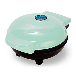 Mint green Dash mini waffle maker from Bed Bath & Beyond photo