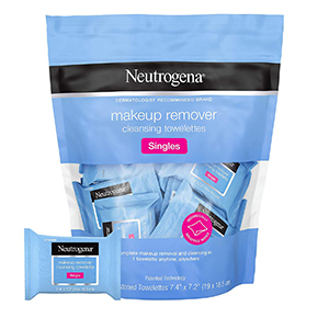 Bag of Neutrogena individually-packaged makeup wipes from Walmart photo