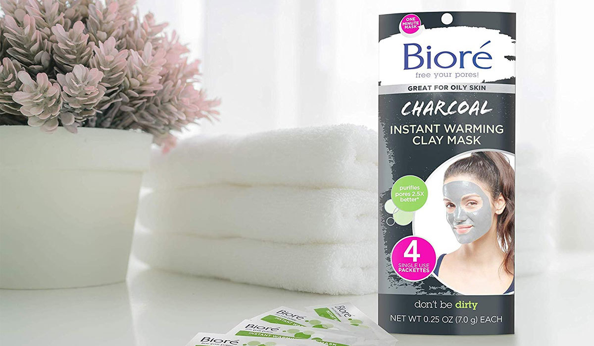 Biore Charcoal Instant Warming Clay Mask from Amazon