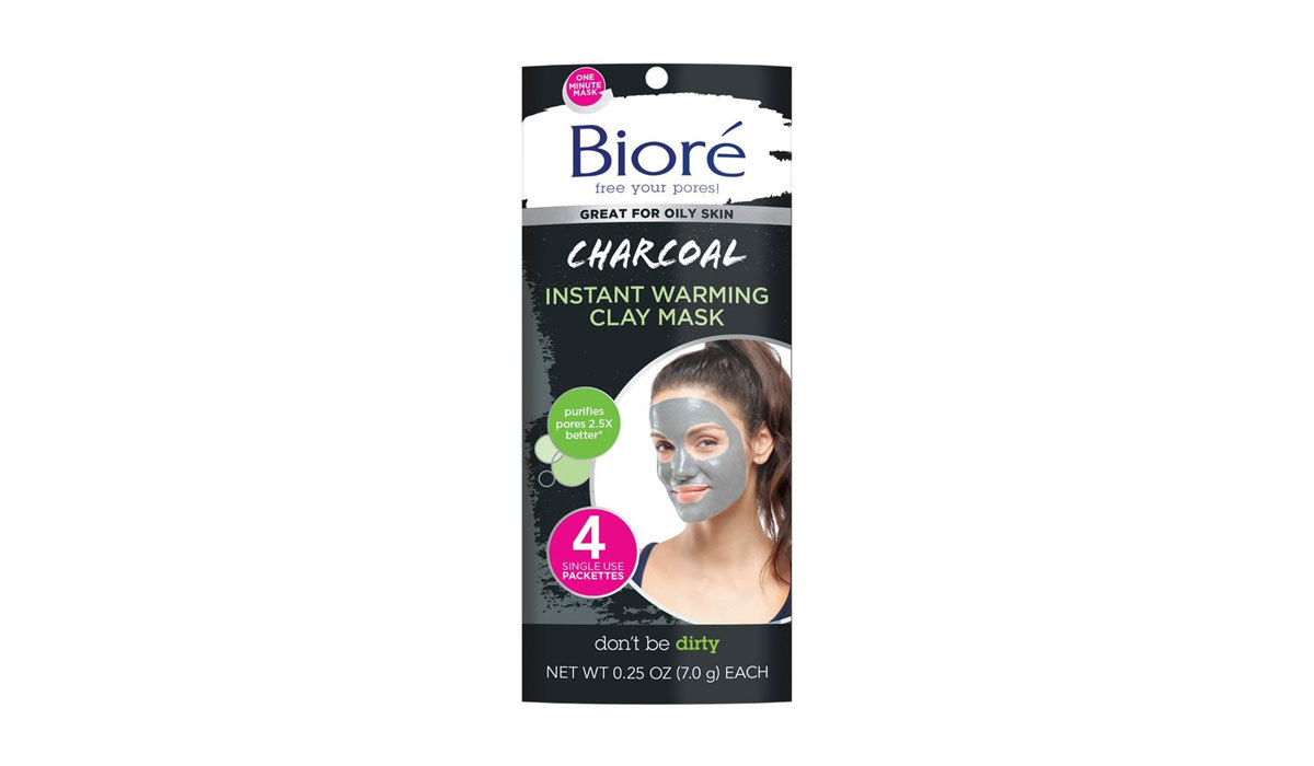 Biore Charcoal Instant Warming Clay One Minute Face Mask from Amazon photo
