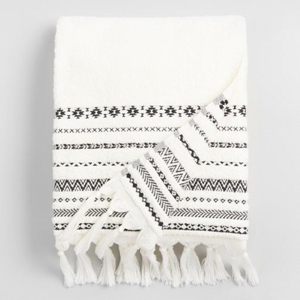 Black and white tribal bath towels from World Market photo