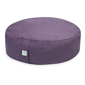 Round purple meditation cushion from Walmart photo