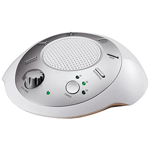 White and silver HoMedics sound machine from Walmart photo