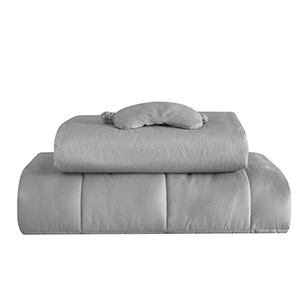 Gray Well Being weighted blanket set from Walmart photo