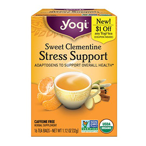 Orange box of Yogi clementine tea from Walmart photo