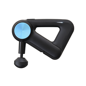 Black and blue Theragun therapy device from Walmart photo