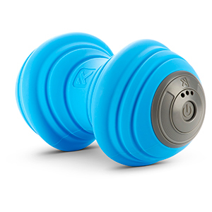 Blue and gray TriggerPoint vibrating foam roller from Walmart photo
