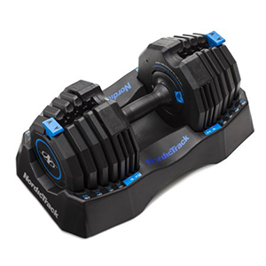 Black Nordictrack adjustable dumbbell from Walmart photo