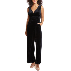 Black velvet jumpsuit with heels by Ingrid & Isabel from Nordstrom photo